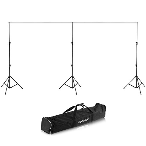 Neewer 20ft/6m Wide,8.8ft/2.7m High Backdrop Support System Stand with Detactable Crossbar with Carrying Case for Photography Video Studio Shooting by Neewer