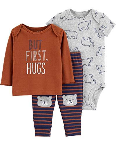 3 Morgan Piece (Carter's Baby Boys' 3-Piece Little Character Sets (Brown/Bear Hugs, 9 Months))