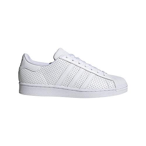 adidas Originals Men's Superstar Shoes Sneaker, White/Off White/White, 6