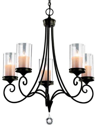 Kichler 42861SWZ Lara Chandelier 5-Light, Shadow Bronze
