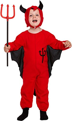Devil Costume 2-3 Years (GUBA Little Girls' Fancy Devil Halloween Party Costume Dress Toddler 2-4 Years Red Devil)