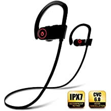 Bluetooth Headphones, Wireless Earbuds with Microphone, Sports Earphones, IPX7 Waterproof Sweatproof Musical Headsets, Noise Cancelling HD Stereo for Running Gym, Up to 8 Hours Working Time