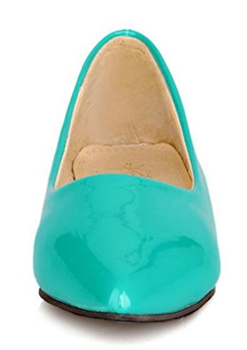 On Low Toe Low Classic Flats Solid Slip Top Pointed Spring Dress CHFSO Womens Heel Green Shoes CXw8a