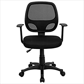 Flash Furniture Mid-Back Black Mesh Computer Chair