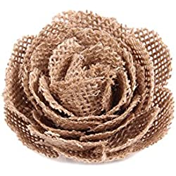 Junxia Natural Linen Flowers for Wedding Party Decoration(5pcs) (Big)