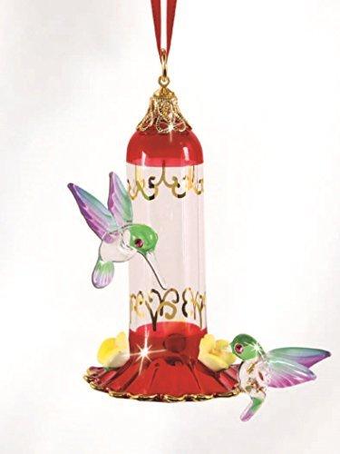 Gold Feeder Hummingbird (Glass Baron Hanging Hummingbird Feeder)