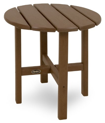 Trex Outdoor Furniture Cape Cod Round 18-Inch Side Table, Tree House
