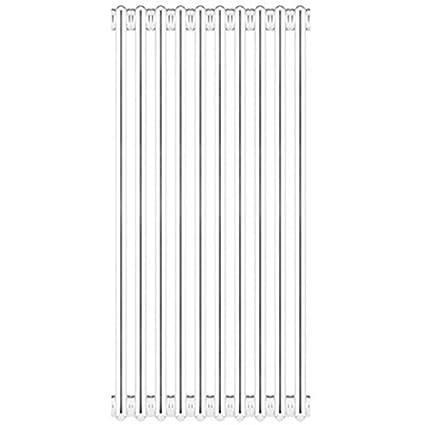 Ercos Radiador Acero Tubular 4 Columnas Desmontable MOD.860 Elementos 4