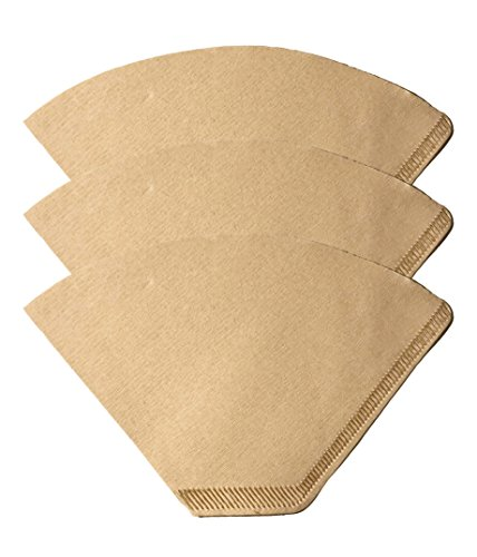 300 Replacements for #2 Coffee Filters Unbleached, All Natural, Brew Brown Paper Cone, Fits All Coffee Makers With #2 Number 2 Coffee Basket Holder including Melitta, by Think Crucial (Basket Brew Peoples)