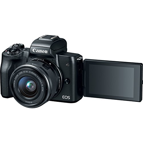 Canon EOS M50 Mirrorless Camera with 4K Video and EF-M 15-45mm Lens Kit (Black) Deluxe 32GB Triple Battery Bundle with Shotgun Mic, Backpack, Tripod and More by Canon (Image #4)
