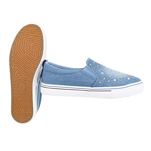 Ital-Design - Zapatillas de casa Mujer Hellblau KK-36