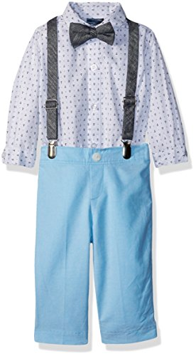 - Nautica Baby  Boys' Set with Shirt, Pant, Suspenders, and Bow Tie, Blue Atoll Anchors, 3-6 Months