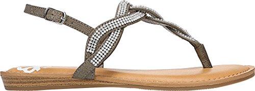 Fergalicious Womens Shade Flat Sandal Grey