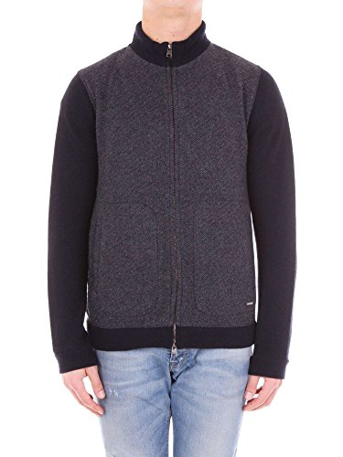 300 Blu Light Cardigan Full Zip Notte blue Grey wool lw01 Wool Cotton Wofel1093 Woolrich Ht7Eww