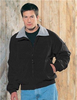 (Premium Quality Men's Toughlan Nylon Survivor Jacket With Panda Fleece Lining - Black, Medium)