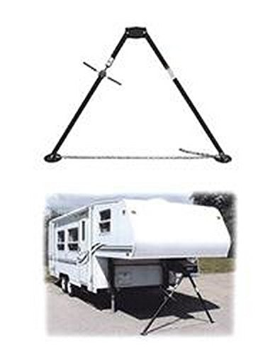 RV Trailer ADNIK Deluxe Bipod Fifth Wheel King Pin Stabilizer Jack Stand