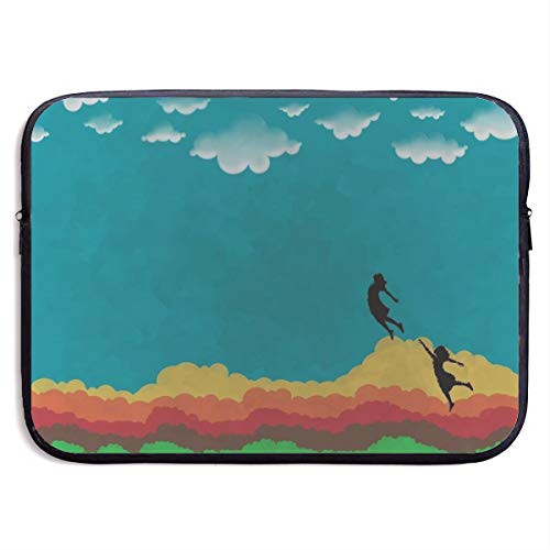 Waterproof Laptop Sleeve 15 Inch, Rainbow Clouds Print Business Briefcase Protective Bag, Computer Case Cover for Ultrabook, MacBook Pro, MacBook Air, Asus, Samsung, Sony, Notebook