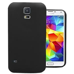 Accessory Master- Negra Funda Carcasa de Silicona Gel para Samsung Galaxy S5 G900F / G900h