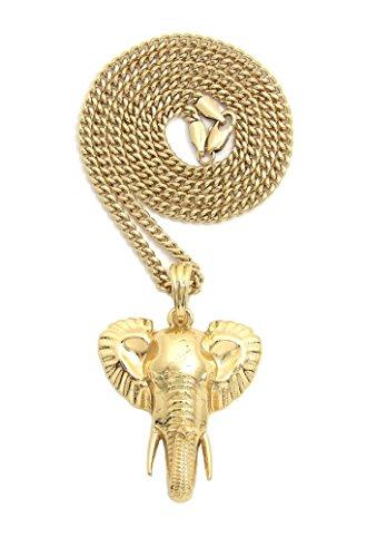 Fashion 21 Unisex Polished Elephant Head Pendant 18