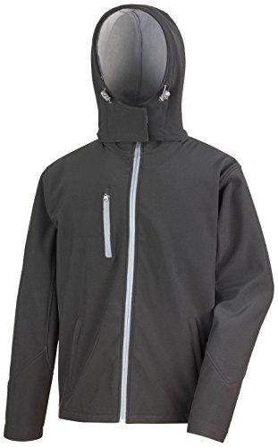 Da Prestazione Softshell Nucleo Colori Risultato Jacket Di Tx Uomo Hooded Black Vivid 4 Green UwEXqfd