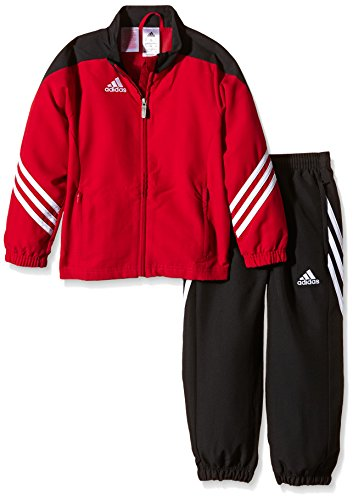 Training Presentation Suit - adidas Boys Tracksuit Woven Sereno14 Boys Presentation Football Training Suit New Red/Black 7-15 Years D82935 (128cm (Small Youth))