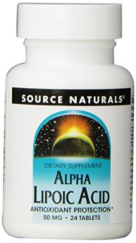 Source Naturals: Alpha Lipoic Acid 50 mg 24 Tablet (Pack of 3)