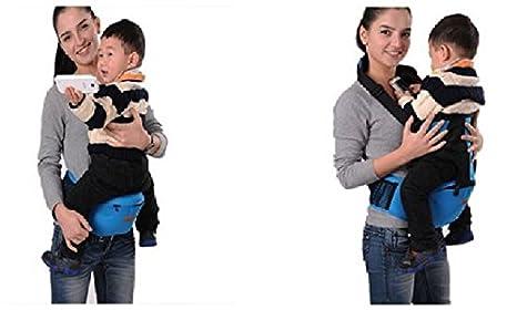 DEMU Babytrage Taille Hocker Sitztr/äger Baby Hipseat Waist Stool Belt Blau