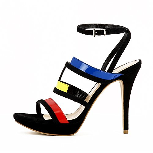 Evita Shoes Valeria Damen Sandalette Kombi Leder Bunt