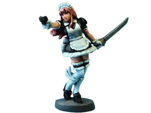 オーロラモデル メタルフィギュア 「メイドウォリアー」 ゲームミニチュア FE22
