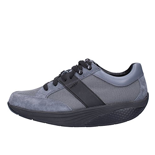 Mujer MBT Textil Sneakers 37 Negro Gris EU Gamuza UwqCw5