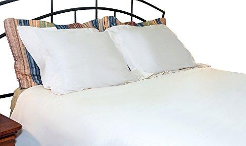 Whisper Organics 100% Organic Cotton Duvet Cover, 500 Thread Count - GOTS Certified (Full/Queen, White)