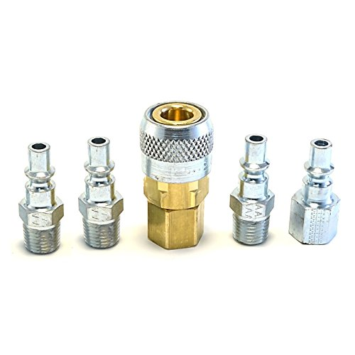5pc Quick Coupler Set Air Hose Connector Fittings 1/4 NPT To