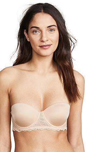 Calvin Klein Underwear Women's Seductive Comfort Strapless Lift Multiway, Bare, 40B ()