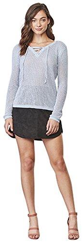 BB Dakota Women's Lily Lace-Up Sweater cyanide Medium from BB Dakota