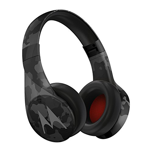 Motorola Pulse Escape + Wireless Over-Ear Headphones – Black Camo, 2.1