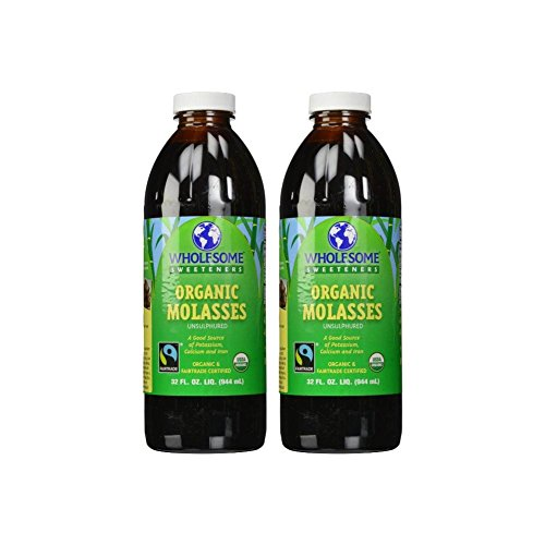 Wholesome Sweeteners - Organic Molasses Unsulphured - 32 Fl Oz (Pack of 2)