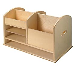Childcraft 1491255 Tabletop Writing Supplies Center, 21-1/4 x 12 x 12-3/8 Inches 12 38 Inches Height,12 Inches Width,21.25 Inches Length,Natural Wood