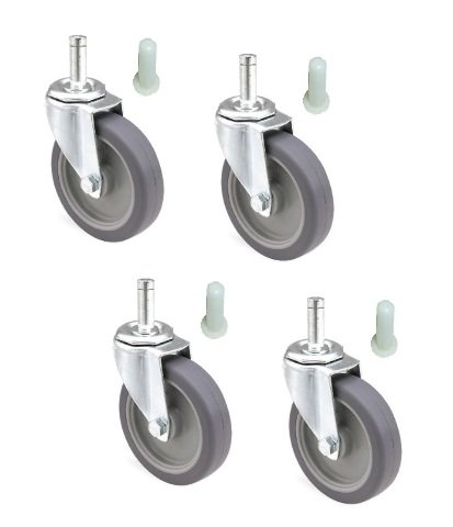 Set of 4 Mop Bucket Casters with 3