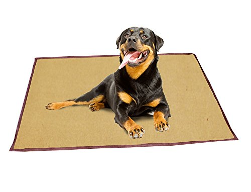 ABO Gear 24 by 42-Inch Pet Cooling Bed, Large, Tan/Brown