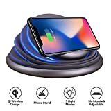Wireless Charger,COSOOS Qi Certified Wireless Charging Stand Compatible with iPhone Xs MAX/XR/XS/X/8/8 Plus, 10W for Samsung Galaxy Note 9/S9/S9 Plus/Note 8/S8, 5W Qi-Enabled Phones,Mood Night Light