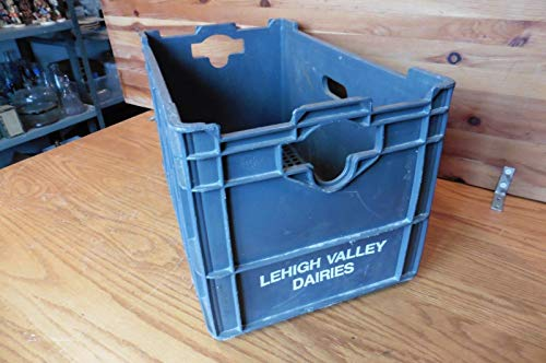 s Farm Dairy Milk bottle Crate Huskylite Plastic vintage box ()