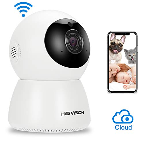 HISVISION Wireless 1080P IP Camera, WiFi Home Security Surveillance Camera Activity Detection Alert Baby/Pet Monitor Two-Way Audio with Cloud Storage & Night Vision.