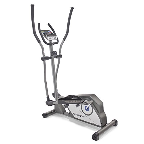 Marcy Magnetic Elliptical Trainer Cardio Workout Machine with Transport Wheels NS-40501E ()