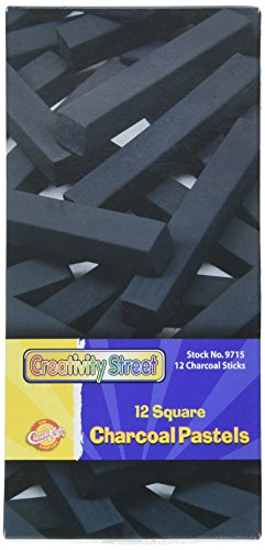 Height Charcoal (Chenille Kraft CK-9715 Artists Square Pastels, 0.75