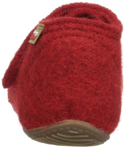 Living Kitzbühel  Baby Klettschuh unifarben, Chaussons pour bébé mixte enfant - Rouge - Rot (350 rot), 30 EU