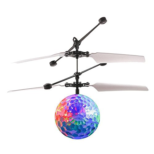IDS Home Mini RC Flying Ball Infrared Induction Helicopter Ball with Whirly Flashing LED Light for Kids by IDS Home