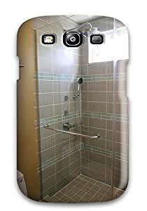 UflCPNL2340iNufO Tpu Case Skin Protector For Galaxy S3 Glass Shower With Gray Porcelain Tile In A Contemporary Bathroom With Nice Appearance