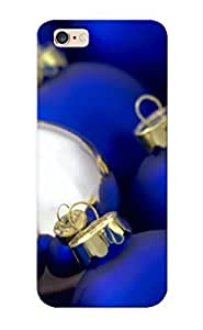 3ebe97c4722 Case Cover Blue Silver Christmas Ornaments Compatible With Iphone 6 Plus Protective Case