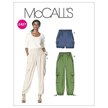 Amazon.com: McCall\'s Patterns M6291 Misses\' Shorts, and Pants In 2 ...