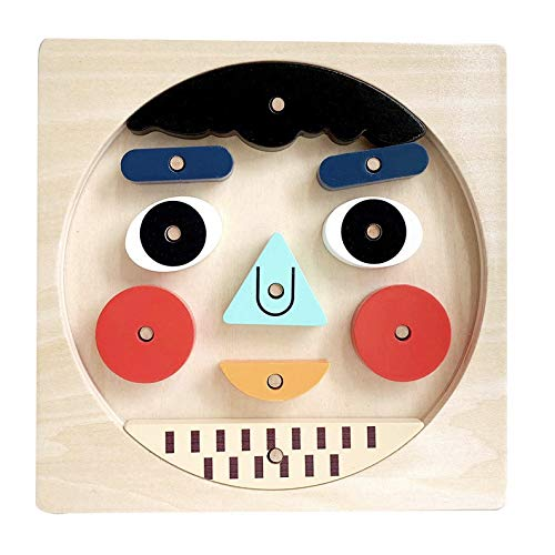 Wooden Puzzles - Face Emotion Toys for Kids - Preschool Puzzles for Toddlers - Educational Games - Puzzles for 3 Year Olds